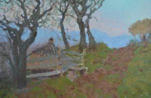 Oil painting, Carpathians landscape