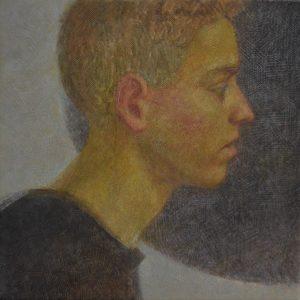Portrait of a brother, oil painting, Arseniy Melnyk artist
