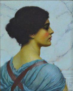 Oil painting, Portrait of a girl, copy, John William Godward