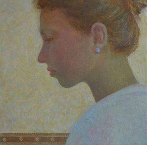 Portrait of sister, oil painting, Arseniy Melnyk artist