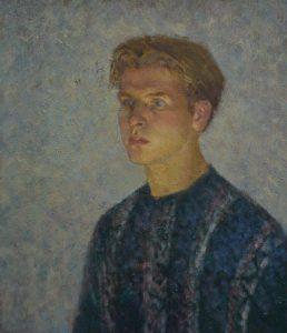 Oil painting, Self-portrait by artist Arseniy Melnyk