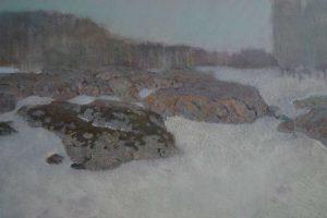 Winter landscape, oil painting, Arseniy Melnyk artist