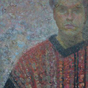 Self-portrait of artist Arseniy Melnyk, oil painting